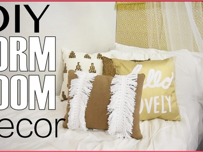Back To School | Dorm Room Decorating | DIY Headboard + Decor