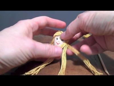Bucilla Stocking Construction - Part 2, #13, Doll Hair