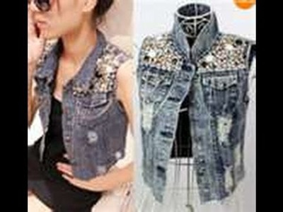 D.I.Y | Shoulder studded denim jacket  EASY