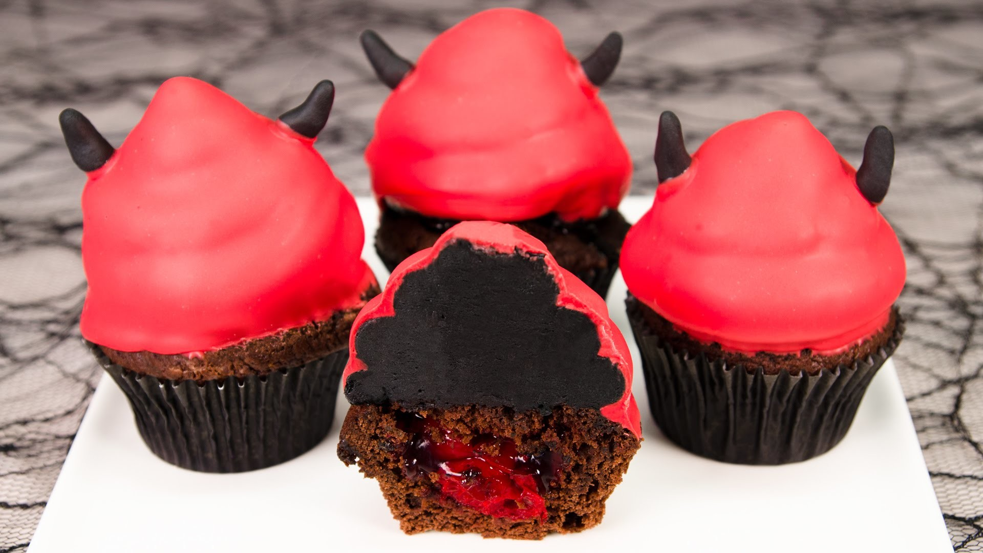 Devil's Food Cake Halloween Cupcakes from Cookies Cupcakes and Cardio