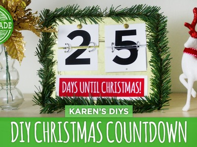 DIY Christmas Countdown - HGTV Handmade