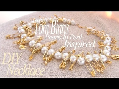 DIY Fashion ♥ Tom Binns Pearls In Peril Inspired Safety Pin Necklace