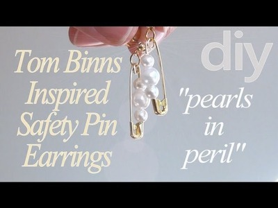 DIY Fashion ♥ Tom Binns Pearls In Peril Inspired Safety Pin Earrings