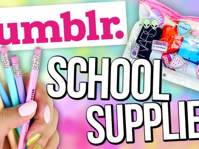 DIY INEXPENSIVE School Supplies you NEED to try! ♥ TUMBLR Style