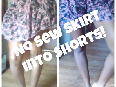 DIY| No Sew Skirt into Shorts