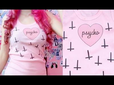 DIY: Pastel Goth and Kawaii T-shirts