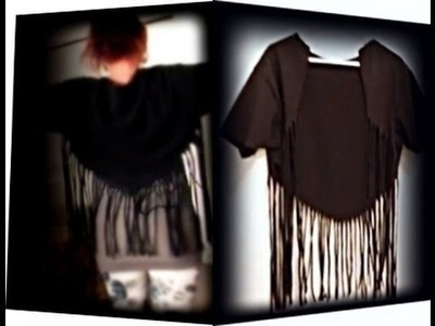 Easy T-shirt D.I.Y. Long Fringe Bolero, Cardigan, throw over, wear with almost anything.  thing