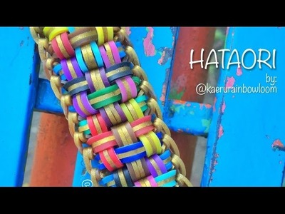 "HATAORI Hook Only ""and barbecue sticks"" bracelet tutorial"