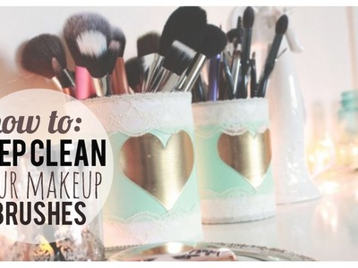How To Deep Clean Your Makeup Brushes | Quick & Easy!