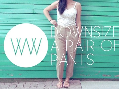 How to Downsize a Pair of Pants