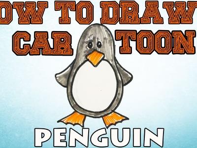 How to Draw a Cartoon Penguin | MAT