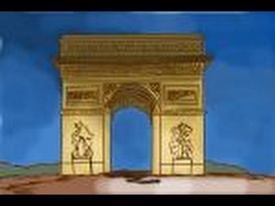 How to draw Arc de Triomphe in Paris