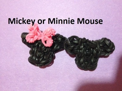 How to Make a Mickey.Minnie Mouse Head Charm on the Rainbow Loom - Original Design