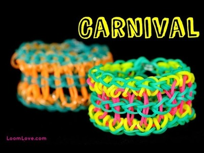 How to Make a Rainbow Loom Carnival Bracelet