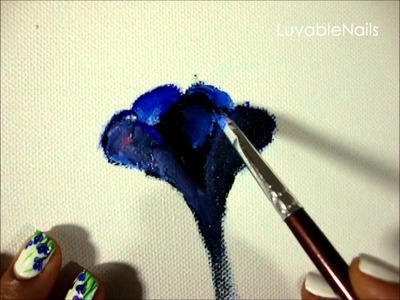 How to Paint Spring Crocus Flower by LuvableNails