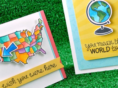 Intro to Wish You Were Here + 2 cards from start to finish { Lawn Fawn }