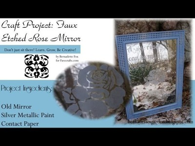 Make a Faux Etched Mirror for Home or Garden