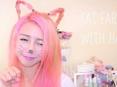 Make cat ears with your own hair - The Wonderful World of Wengie