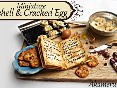 Miniature egg, eggshells, and cracked egg tutorial - Miniature baking scene