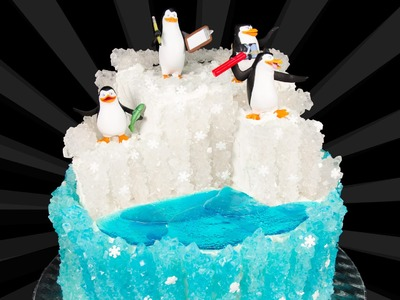 Penguins of Madagascar Cake from Cookies Cupcakes and Cardio