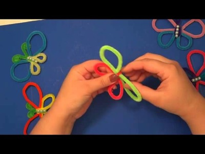 Pipe Cleaner Butterflies : Easy Kids Craft