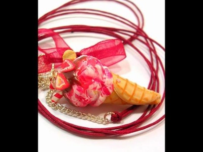 Polymer clay jewelry - MKdesigns - Polymer Clay Handmade Sweets & Candy  Necklaces