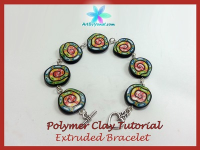 Polymer Clay Tutorial - Extruded Bracelet - Lesson #25