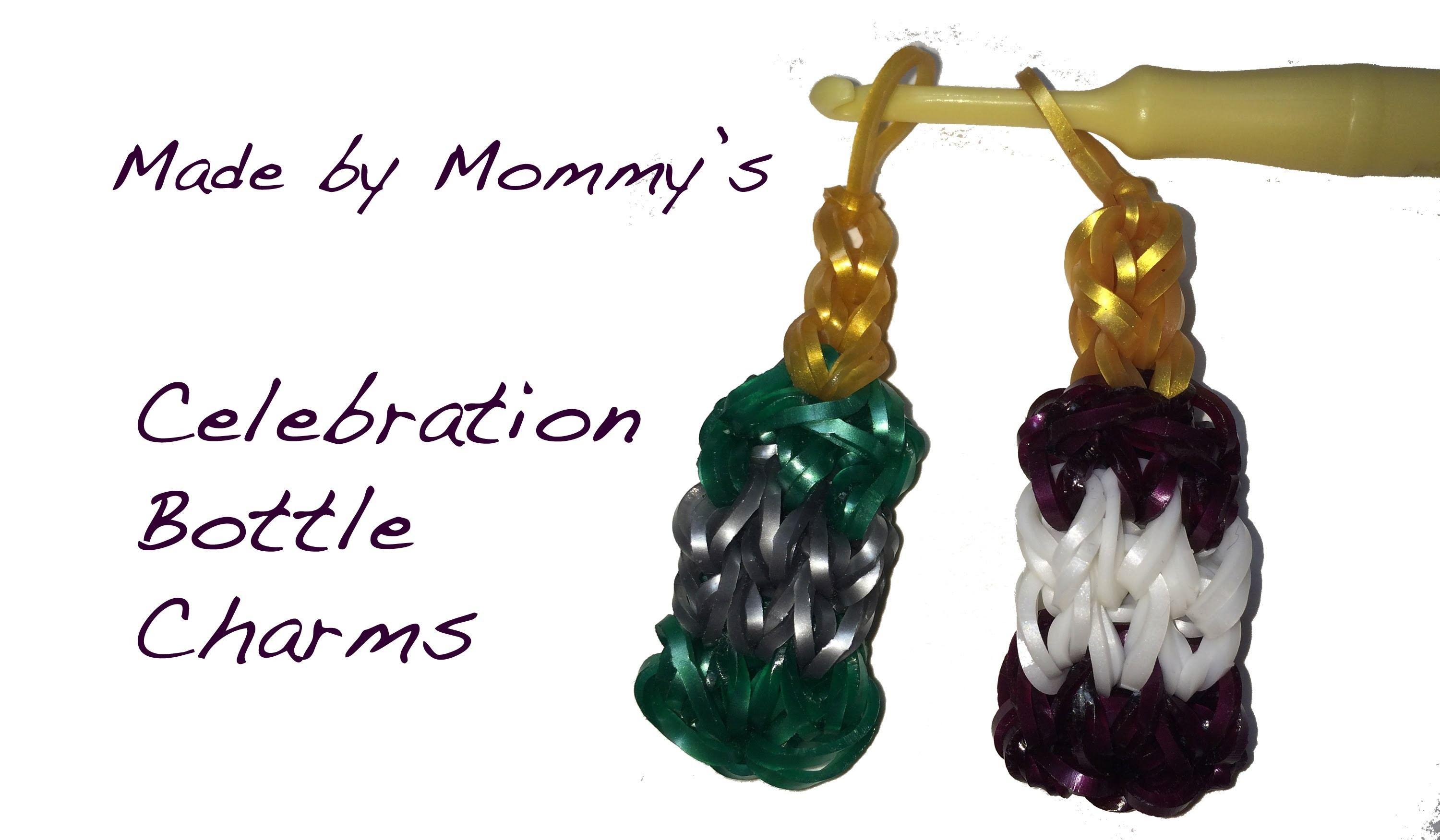Rainbow Loom Bottle Charm - Wine, Champagne or Apple Cider?