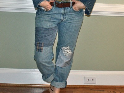 Refashion Thrift Store Jeans to Shabby Chic