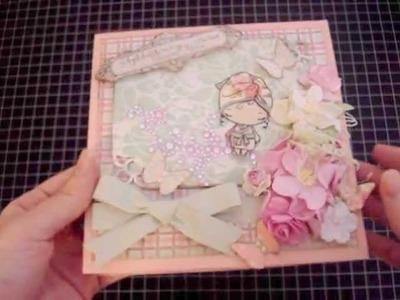 Scrapbook Mini Album Pamper Yourself : ) Bathtub mini album and Bathtub gift box