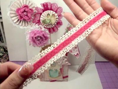 Shabby Chic Valentine's Flower Basket & Paper Share