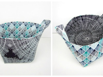 {Step-by-Step Sewing} Reversible Fabric Storage Bag