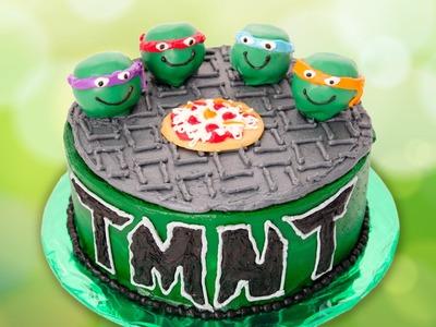 Teenage Mutant Ninja Turtles Cake from Cookies Cupcakes and Cardio