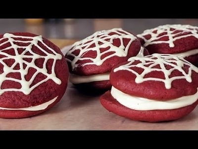 The Amazing Spider-Man Red Velvet Whoopie Pies | Just Add Sugar