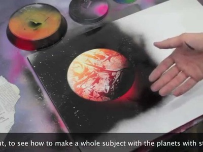 Tutorial base pianeti ITA planet sub ENG spray paint art by zolosprayart