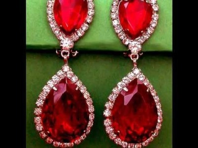 Vintage Costume Jewelry - Vintage Crystal Rhinestone Earrings