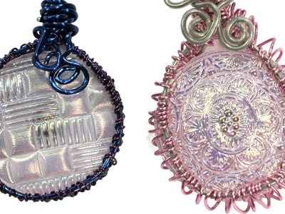 Wire Wrapped Button Bezel Pendant Tutorial