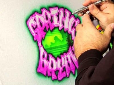 2014 Spring Break T-Shirt Airbrush Design by Gary Worthington - Airbrush Action