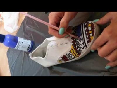 DIY#2 aztecprinted shoes