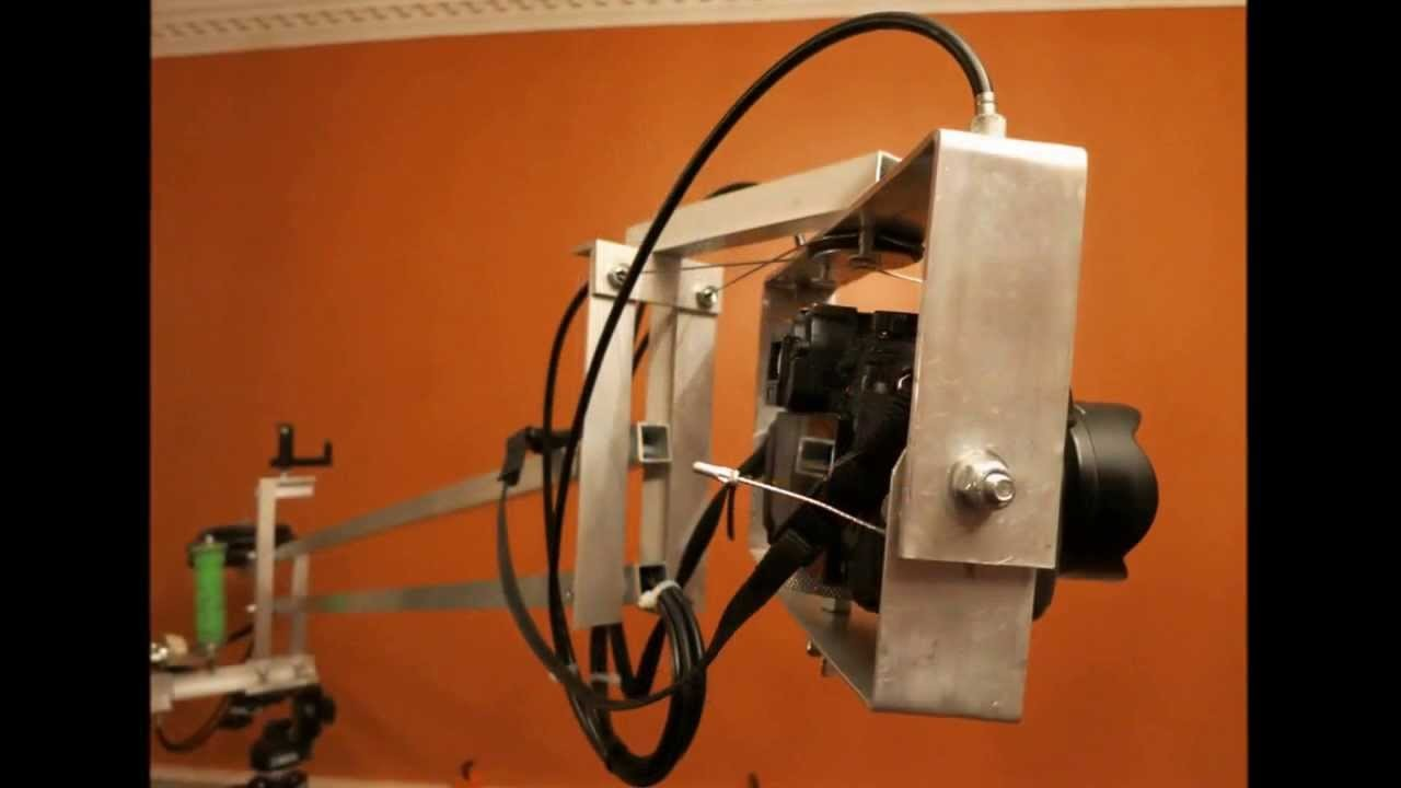 DIY bicycle cable actuated Pan.Tilt video head Test