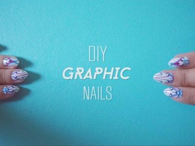 ✂ DIY Graphic Nails