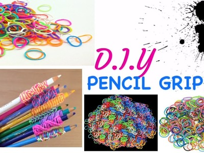 DIY Pencil Grip Made From LOOM BANDS?!?!?! (easy)