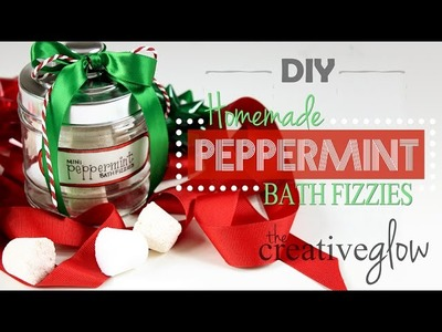DIY Peppermint Bath Bomb Fizzies - Scented Homemade Gift Idea #3