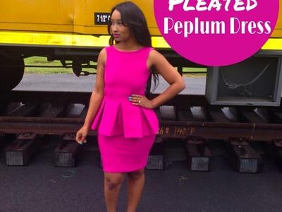 DIY: Pleated Peplum Dress