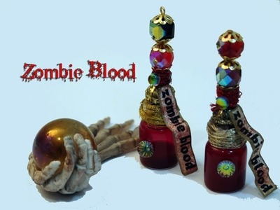 DIY: POTION #1: How To Make Zombie Blood In a Vial,Charm or Pendant