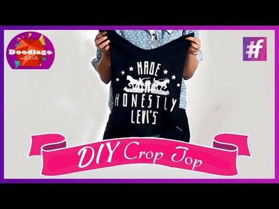 DIY Tutorial | How To Turn Your Old T-Shirt Into A Crop Top