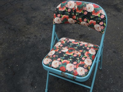How to Decoupage on Fabric & Upcycle a Folding Chair