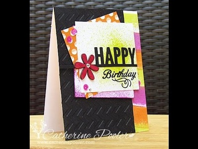 Layered Card with Imagine Crafts sprays and inks with Catherine Pooler