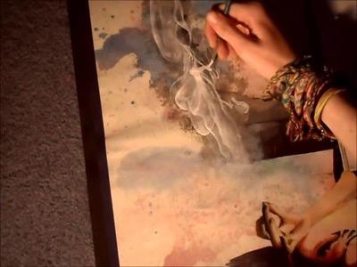 Painting a Swirl of Smoke