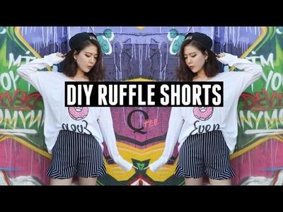 QTee | DIY Ruffle High Waist Shorts